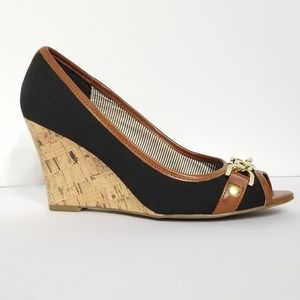 Tommy Hilfiger Canvas Wedge Heels 6M